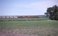 UNION PACIFIC Railroad 4X Locomotives Train DIX NE Original 1988 Photo Slide