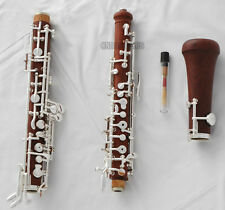 Professional Rosewood Semiautomatic Oboe Silver Plated C key With Wood Case