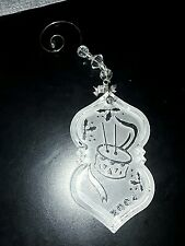 2004 Waterford Crystal Drummer Boy Annual Christmas Ornament used w/ wire hanger
