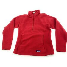 Women's Patagonia Synchilla Marsupial Fleece 1/4-Zip Red pull over size Small