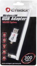 Octagon 300Mbit/s WL038 USB2.0 Wlan +5dB Stick mit inkl. Stab Antenne