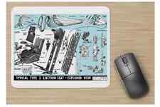A ROYAL NAVY + AIR FORCE RAF Training Typical Type 3 Ejector Seat Mouse Pad NEW