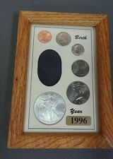 1996 Birth Year Coin set in Frame