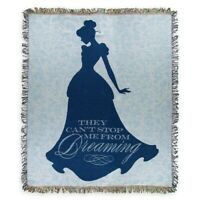 Disney Parks Cinderella Castle Tapestry Throw Can't Stop Me Dreaming Woven NEW