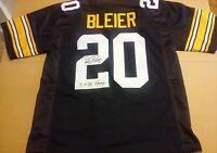 Rocky Bleier Signed Custom Pro Style Steelers Jersey Insc. - JSA WITNESSED COA