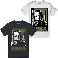 Star Wars Men's Boba Fett T-Shirt - Sizes S-XXL - White or Black