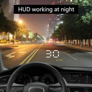Car HUD Head Up HD Display Over Speed Warning OBD2 Speedometer Projector NEW