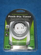 Prime TNI24111 24hr Repeating Cycle Indoor Push Pin Timer, New!