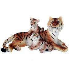 Bengal Tiger with Baby Cubs Figurine Statue Wildlife Animal Lover