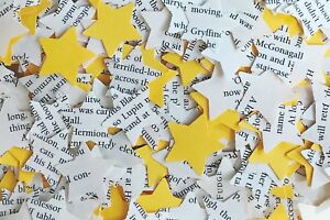 Star Rustic Chic Wedding Table Confetti-Harry Potter/Yellow Paper Mix-Hufflepuff