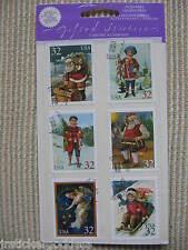 12 Gifted Line Vtg Stickers Christmas Seals Stamps Angels Children John Grossman