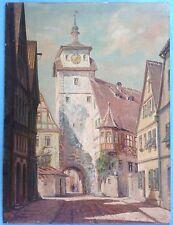 Impressionistisches Ölgemälde Weisser Turm Rothenburg o.T.signiert Brüggemann?43