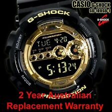 CASIO G-SHOCK WATCH GD-100GB-1 FREE EXPRESS BLACK/GOLD GD-100GB-1DR 2Y WARRANTY