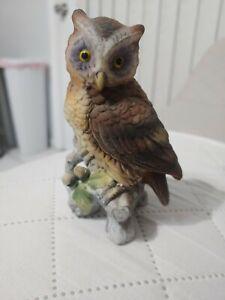 Vintage Owl Decor Ceramic Figurine