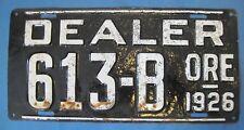 1926 Oregon dealer License Plate