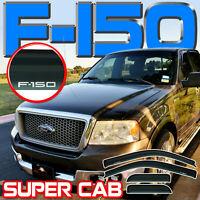 Fits 2004-2008 Ford F150 Super Cab Window Rain Deflector Visors Vent Shade Guard