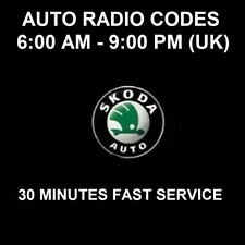 SKODA CAR RADIO UNLOCK PIN CODE - ALL MODELS - FAST SERVICE