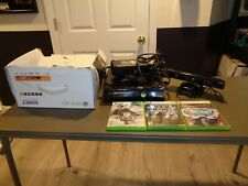 Microsoft X-Box 360 S KINECT System Lot 3 Games Console 1439 W/ Cable Bundle