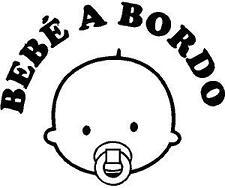 b500 Bebé a bordo Adhesivo Pegatina Vinilo Sticker Cristal niño niña Chapa