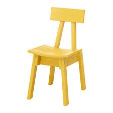 IKEA INDUSTRIELL Stuhl in gelb; aus massiver Kiefer Esszimmerstuhl