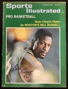 Bill Russell Signed Sports Illustrated Mag 10/25/65 NO LABEL Auto Celtics JSA