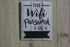 WIFI PASSWORD SIGN WITH A BLACKBOARD PANEL FOR CHALKING PASSWORD