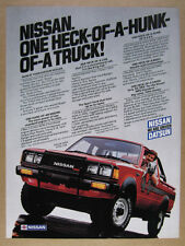 1983 Nissan 4WD King Cab Pickup Truck vintage print Ad