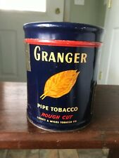 Vintage Tobacco Tin GRANGER PIPE TOBACCO pictures POINTER Bird Dog