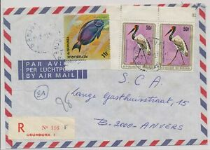 LM85745 Burundi air mail registered good cover used