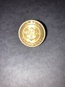 FREE SHIPPING USA REAL NICE ONLY UNION FERRY COMPANY BRASS UNIFORM BUTTON