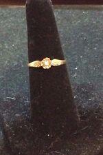VINTAGE 10K YELLOW/ROSE GOLD ROSE BUD RING SIZE 6.75