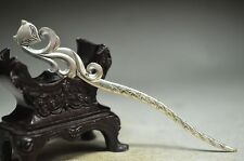 Ingenious Chinese miao silver hand carved Hairpin