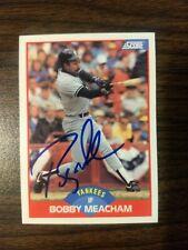 Bobby Meacham, NY Yankees, signed autographed 1989 Score #509 card