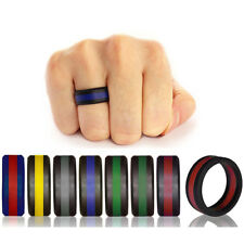 Silicone Rubber Wedding Engagement Ring Sports Crossfit Gym Athletes Exercise 1X