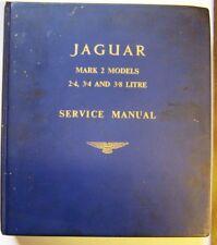 Jaguar Mark 2 Models 2-4, 3-4, 3-8 Litre Factory Original Service Manual