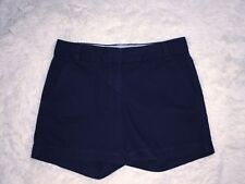 "J. Crew Navy Blue Chino Shorts 5"" Inseam Size 2"