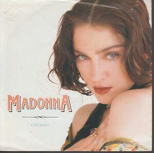 "Madonna Cherish 45T 7"" 45 Tours SP Promo Stamp On Sleeve"