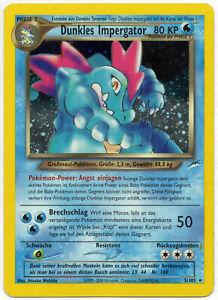 Pokemon Dunkles Impergator Feraligatr 5/105 Neo Destiny TCG DE NM PP&FAST