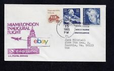 EASTERN AIRLINES INAUGURAL FIRST FLIGHT COVER MIAMI/LONDON #22 7-15-85 DC-10