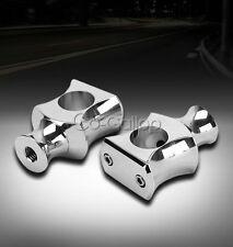"1"" Chrome Handlebar Risers For Harley Davidson Softail Springer Classic FLSTSC"