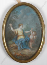 "Francois Boucher-Follower ""Venus and Cupid"", Miniature, 19th century"