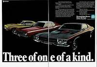 1972 2 Page Ad for 1973 Plymouth Road Runner Duster 340 & Cuda One Of A Kind.