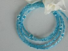 """Eyeglass Chain~Aqua Blue~Mother's Day Gift~28""""~Crystal Accents~Buy 3 SHIP FREE"""