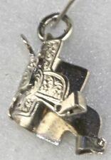Horse Saddle Charm Vintage Sterling Silver Western