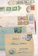 Bolivia. Lote de 5 cartas circuladas a España