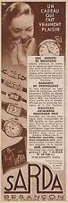 Y8432 Fabrique d'horlogerie SARDA - Pubblicità d'epoca - 1934 Old advertising