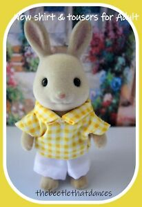 Sylvanian Families Clothes, New Trousers A & Shirt for Adult Cat, Rabbit ETC