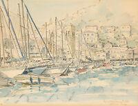Belinda Tong - 20th Century Watercolour, Early Morning - Hydra