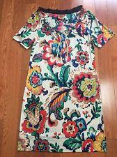 New Tory Burch 100% Silk Floral Print Dress Size M