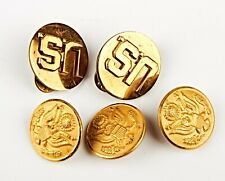*Set Of 5 Waterbury US Army Military Eagle Gold Toned Buttons
